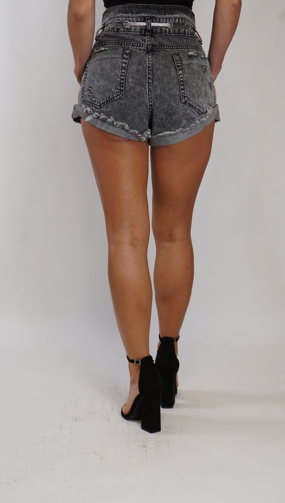 Paperbag Jeans Shorts Trash and Luxury black
