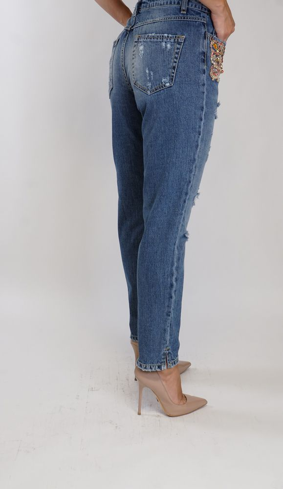 MOM Jeans Trash and Luxury light blue