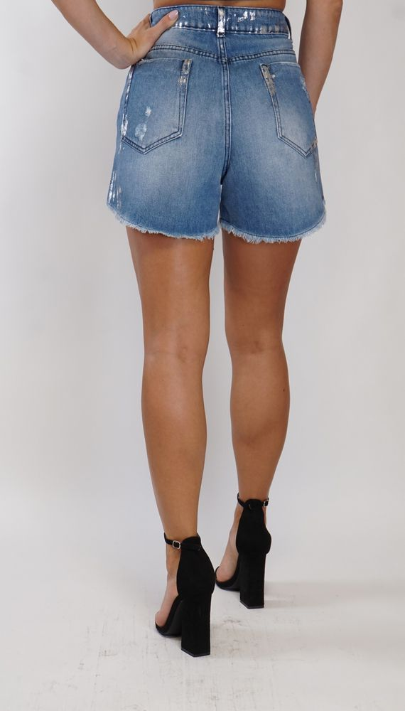 MOM Jeans Shorts Trash and Luxury light blue